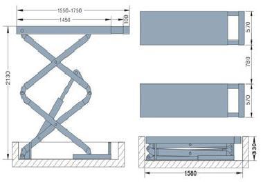 Ножничный заглубляемый подъемник System4you N3