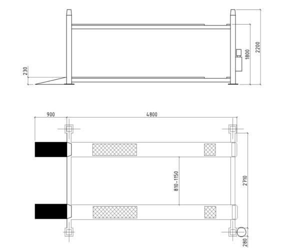 Электрогидравлический подъемник System4you F5.5D-4