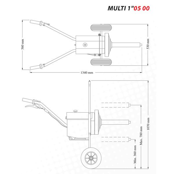 Электрический гайковерт ударный Multi 1