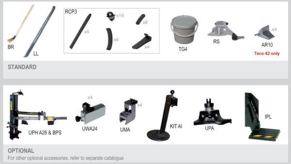 Комплект ааптеров для шиномонтажных работ мото колес