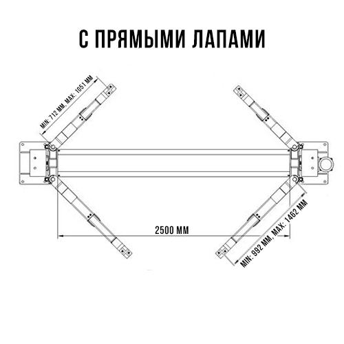 Двухстоечный автомобильный подъемник SYSTEM T4i