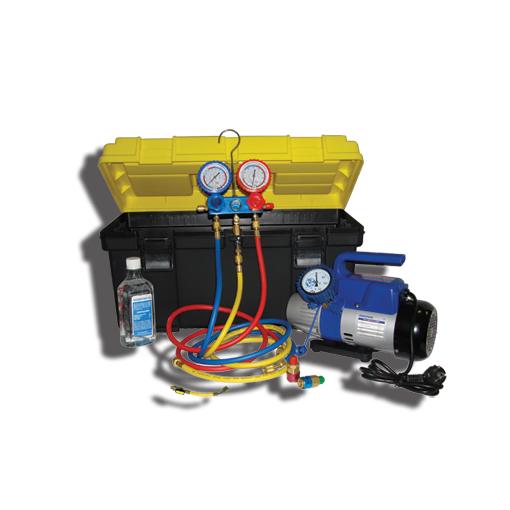 Портативное устройство для вакуумирования и заправки систем кондиционирования SMC-041-2+ New