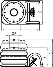 Домкрат воздушный STORM TRA1713 (2,2 т)