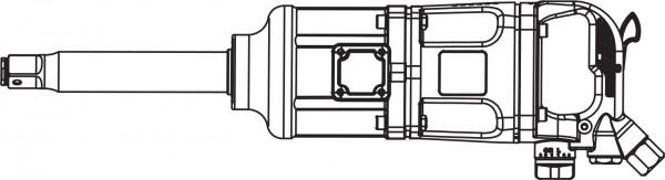 """AIWS124 Гайковерт пневматический  1""""DR 3600 об/мин,  3260 Nm и головки торцевые ударные"""