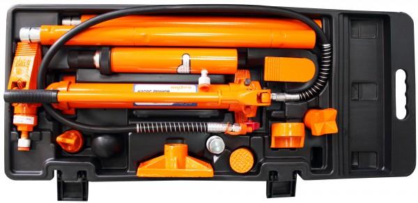 OMBRA OHT918M Набор гидравлического инструмента для кузовного ремонта 10 т, 17 предметов