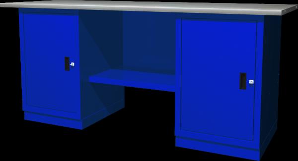 OMBRA 2-11 Верстак с двумя тумбами, тумбы с одной дверцей