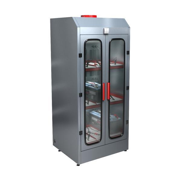 Трехъярусный шкаф для заряда аккумуляторов без зарядного устройства СВЕТОЧ-03-09