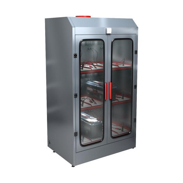 Трехъярусный шкаф для заряда аккумуляторов без зарядного устройства СВЕТОЧ-03-12