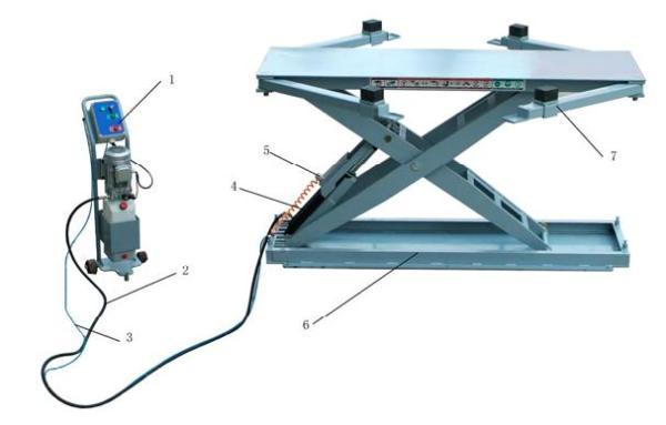 Siver 7630B Подъёмник ножничный, стационарный