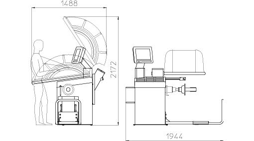 Балансировочный станок грузовой CEMB C202SE