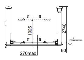 Подъемник четырехстоечный электромеханический П1-06
