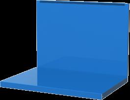 Полка/стенка для бестумбового и двухтумбового верстака FERRUM синяя  01.500-5015