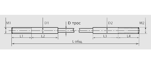 Трос синхронизации для двухстоечного подъемника г/п до 4.5 т