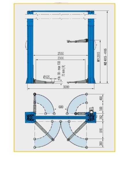 Подъемник электрогидравлический Ravaglioli KPH370.40K