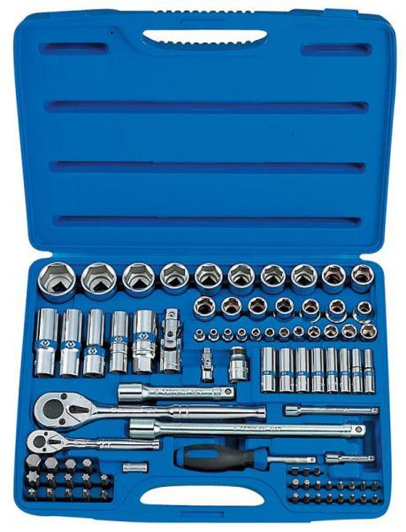 Набор инструментов универсальный, 86 предметов KING TONY 7586MR