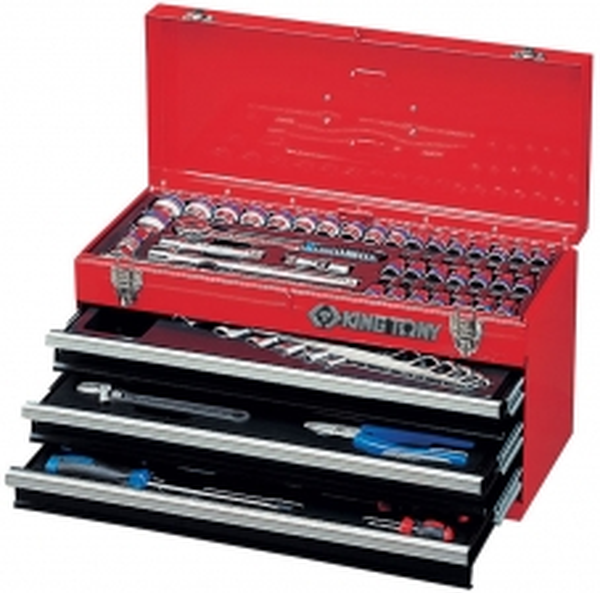 Универсальный выдвижной ящик с инструментом 69 предметов KING TONY 901-069MR01