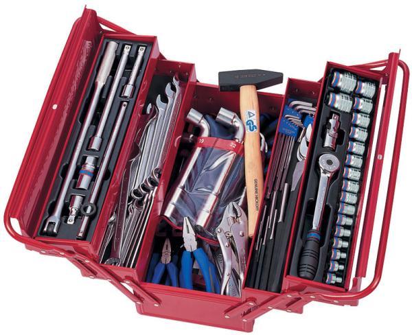 Инструментальный набор из 103 предметов в раскладном ящике KING TONY 902-103MR