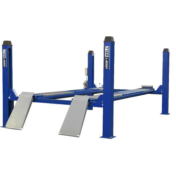Подъемник четырехстоечный электрогидравлический KraftWell KRW6.5WA синий