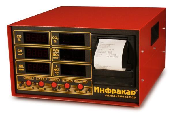 Автомобильный 4-х компонентный газоанализатор «Инфракар М-1Т.02»