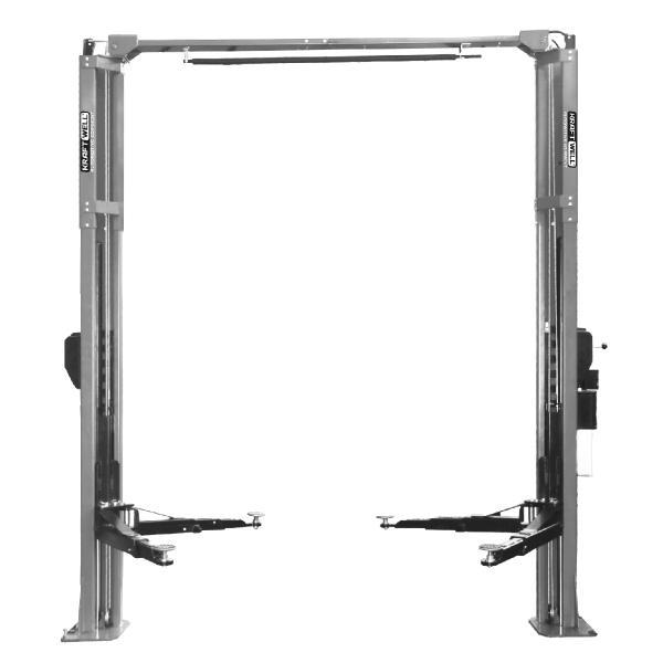Подъемник двухстоечный г/п 4200 кг. электрогидравлический с развернутыми каретками KraftWell