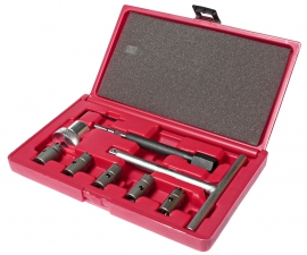 JTC Набор инструментов для притирки седел форсунок дизельного двигателя 9 предметов (кейс) JTC