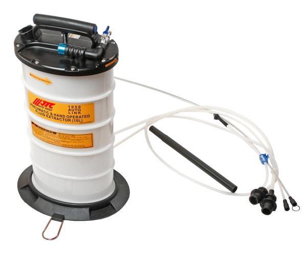 JTC Приспособление для откачивания технических жидкостей 10л ручное и пневматическое JTC