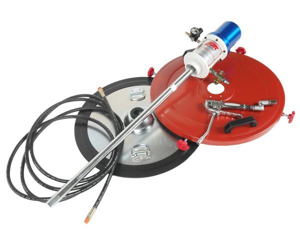JTC Нагнетатель смазки (солидолонагнетатель) пневматический для емкости 200л, 30г/ход, шланг 6м JTC