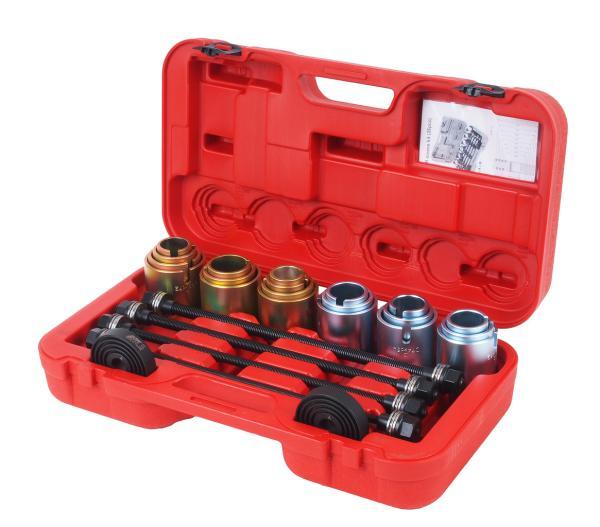JTC Набор инструментов для демонтажа сайлентблоков универсальный 11 предметов (кейс) JTC