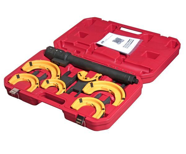 JTC Набор инструментов для стяжки пружин с пневмоприводом (3 пары захватов, ход 317мм) в кейсе JTC