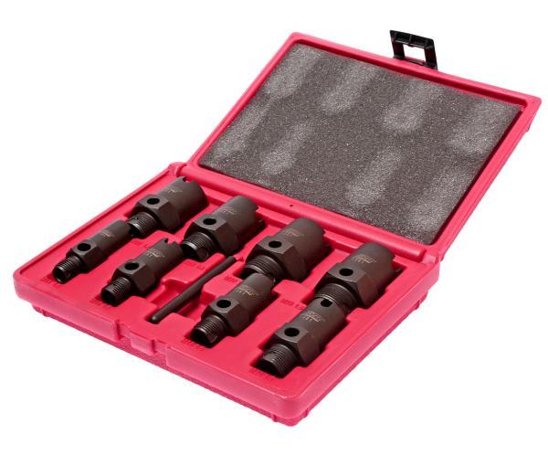JTC Набор инструментов для восстановления резьбы штуцеров систем кондиционирования 9 предметов JTC