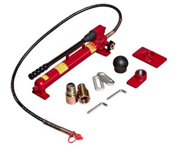 JTC Набор инструментов 38 предметов гидравлический 10т для ремонта кузова (кейс) JTC