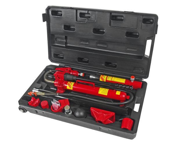 JTC Набор инструментов для кузовных работ профессиональный, усилие 10т, 17шт. в кейсе JTC