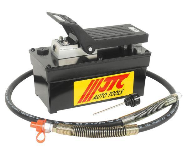 JTC Насос гидравлический с пневмоприводом 257х127х204мм, емкость 1600куб.см JTC