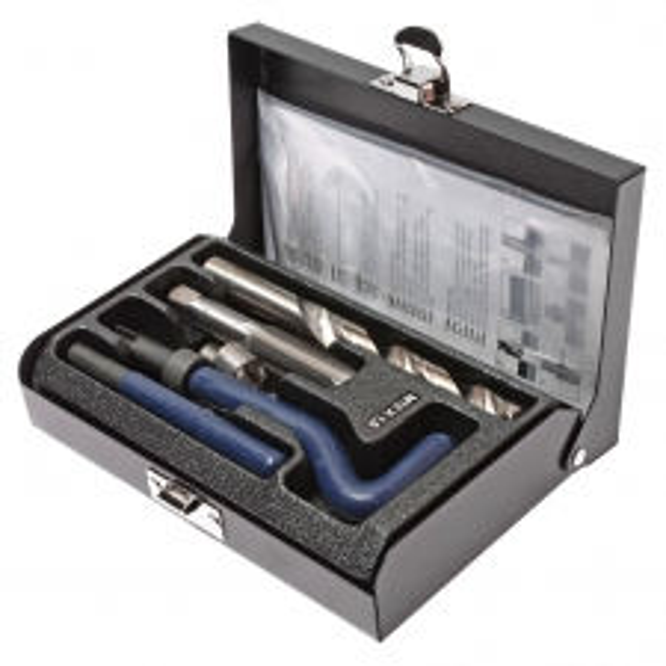 JTC Набор инструментов для восстановления резьбы (вставки М12х1.5, L=16.3мм, 10шт.) 14 предметов JTC