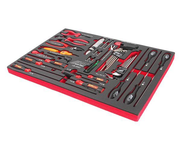 JTC Набор инструментов 43 предмета слесарно-монтажный в ложементе JTC