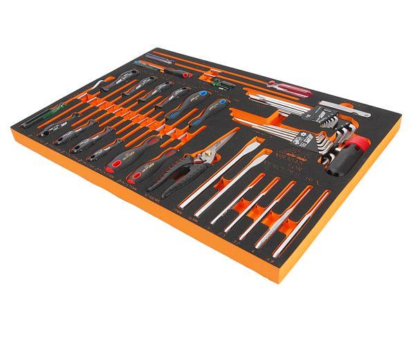 JTC Набор инструментов 45 предметов слесарно-монтажный (MERCEDES) в ложементе JTC