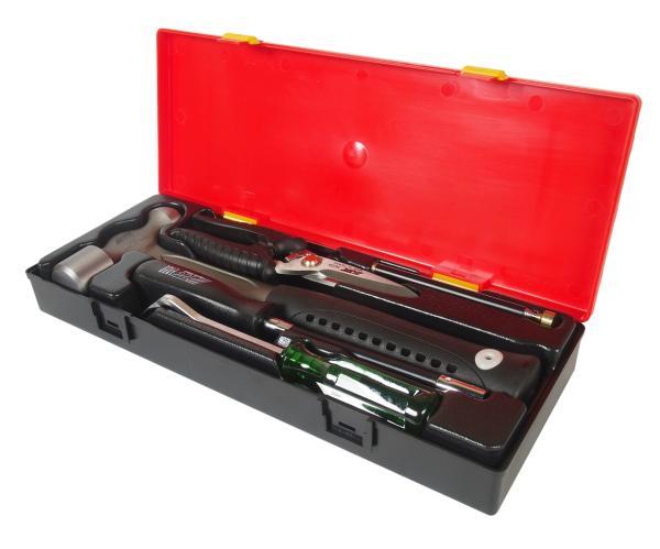 JTC Набор инструментов 5 предметов слесарно-монтажный (молоток,ножницы,отвертка) в кейсе JTC