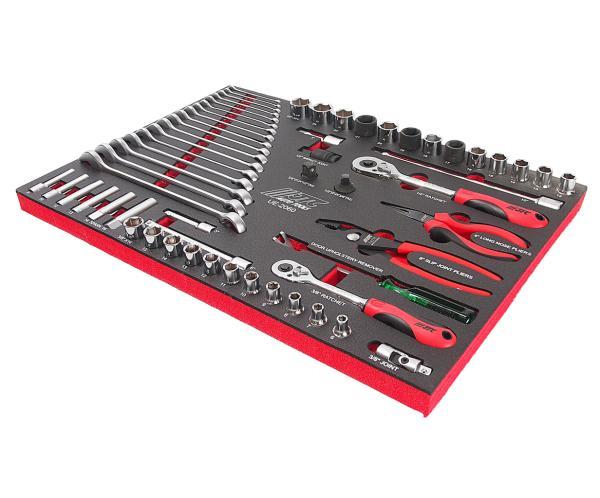 JTC Набор инструментов 60 предметов слесарно-монтажный в ложементе JTC