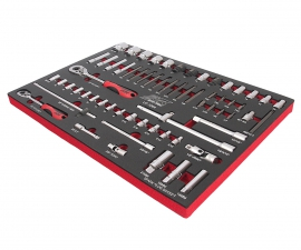 JTC Набор инструментов 63 предметов слесарно-монтажный (1-ая секция) в ложементе JTC