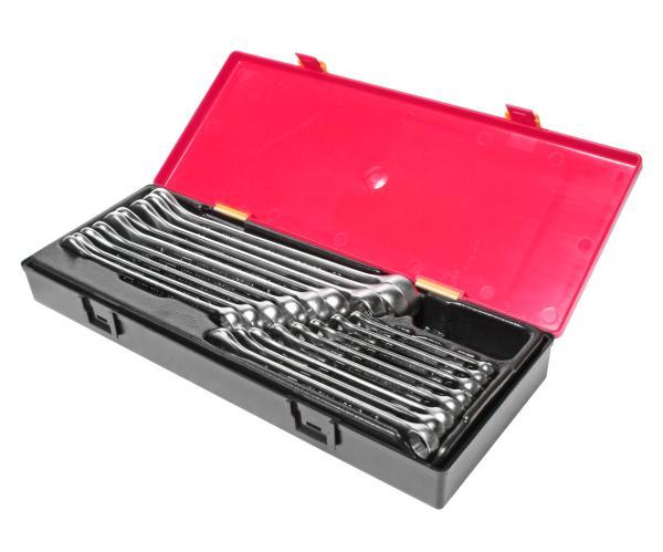 JTC Набор ключей комбинированных 6-23мм в кейсе 17 предметов JTC