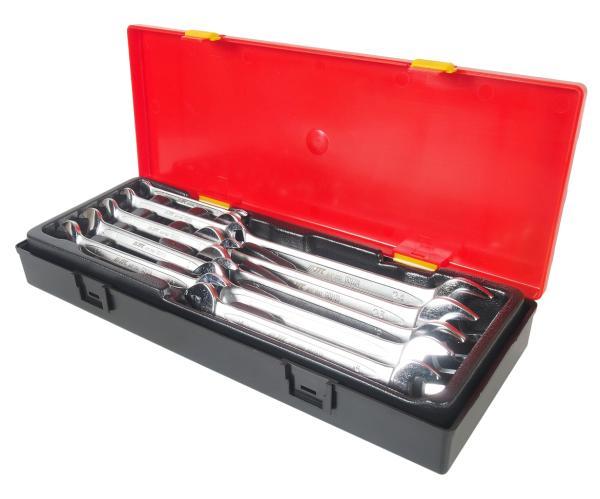 JTC Набор ключей рожковых 6-24мм 10 предметов в кейсе JTC
