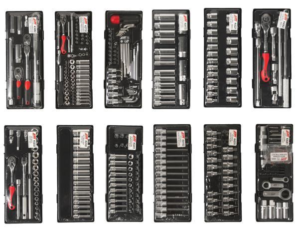 JTC Тележка инструментальная (JTC-5641) 8 секций с набором инструментов 496 предметов JTC