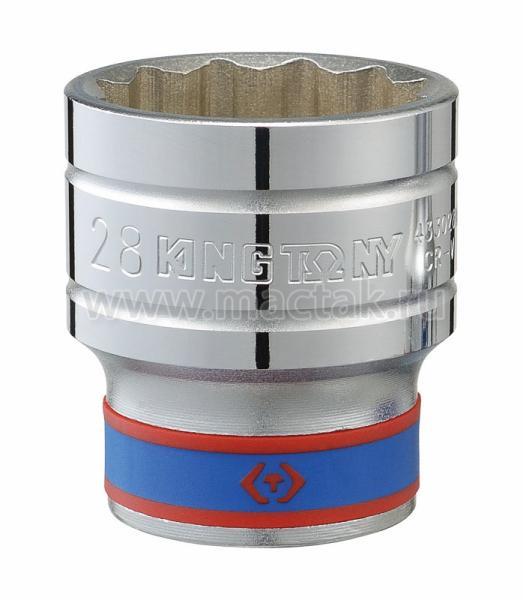 "Головка торцевая стандартная двенадцатигранная 1/2"", 28 мм KING TONY 433028M"