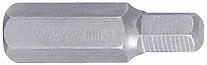 Вставка (бита) торцевая 10 мм, HEX, 8 мм, L = 36 мм KING TONY 163608H