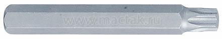 Вставка (бита) торцевая 10 мм, TORX, Т45, L = 80 мм KING TONY 168045T