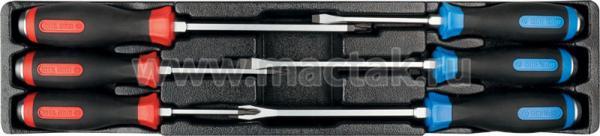 Набор отверток силовых, ложемент, 6 предметов KING TONY 9-30206MR