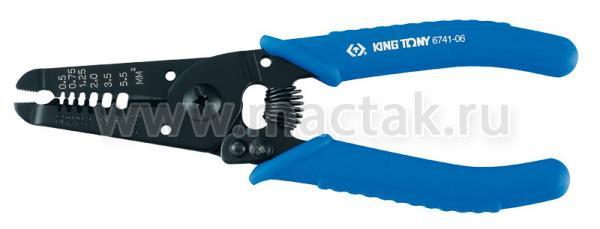 Пассатижи 160 мм, для зачистки изоляции и резки проводов KING TONY 6741-06