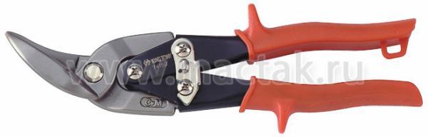Ножницы по металлу 235 мм, левые, загнутые KING TONY 74150
