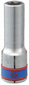"Головка торцевая TORX Е-стандарт 1/2"", E18, L = 77 мм KING TONY 427518M"