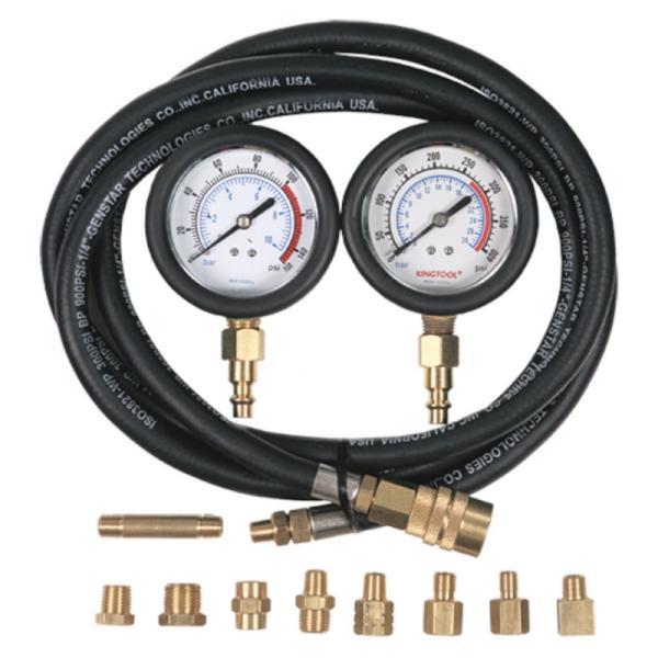 Манометр для измерения давления масла, два манометра, 0-10 и 0-28 бар МАСТАК 120-20028C